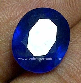 Batu Permata Royal Blue Safir + Memo - ZP 623