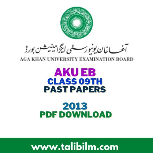 AKU-EB Past Papers SSC-I 2013