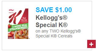 $1.00/2 Special K Cereal COUPON