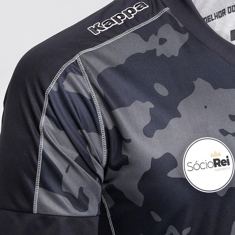 The Santos 2017 Third jersey has a camouflage design on a black base d15c097d01435