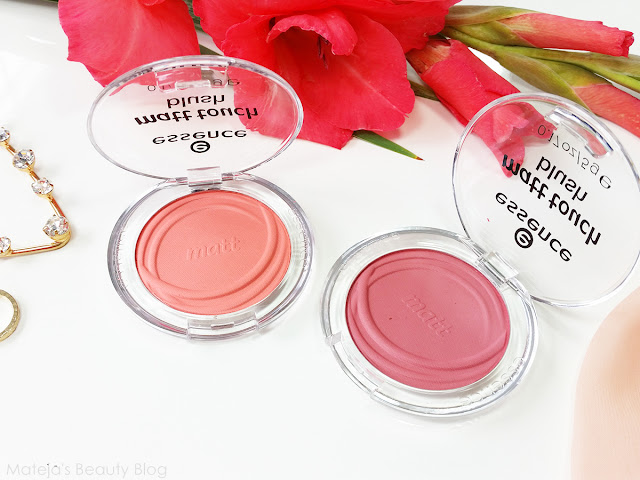 Essence Matt Touch Blush 10 peach me up! and 20 berry me up!