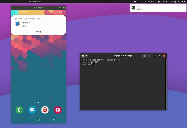 Noti long-running command has finished notification desktop mobile