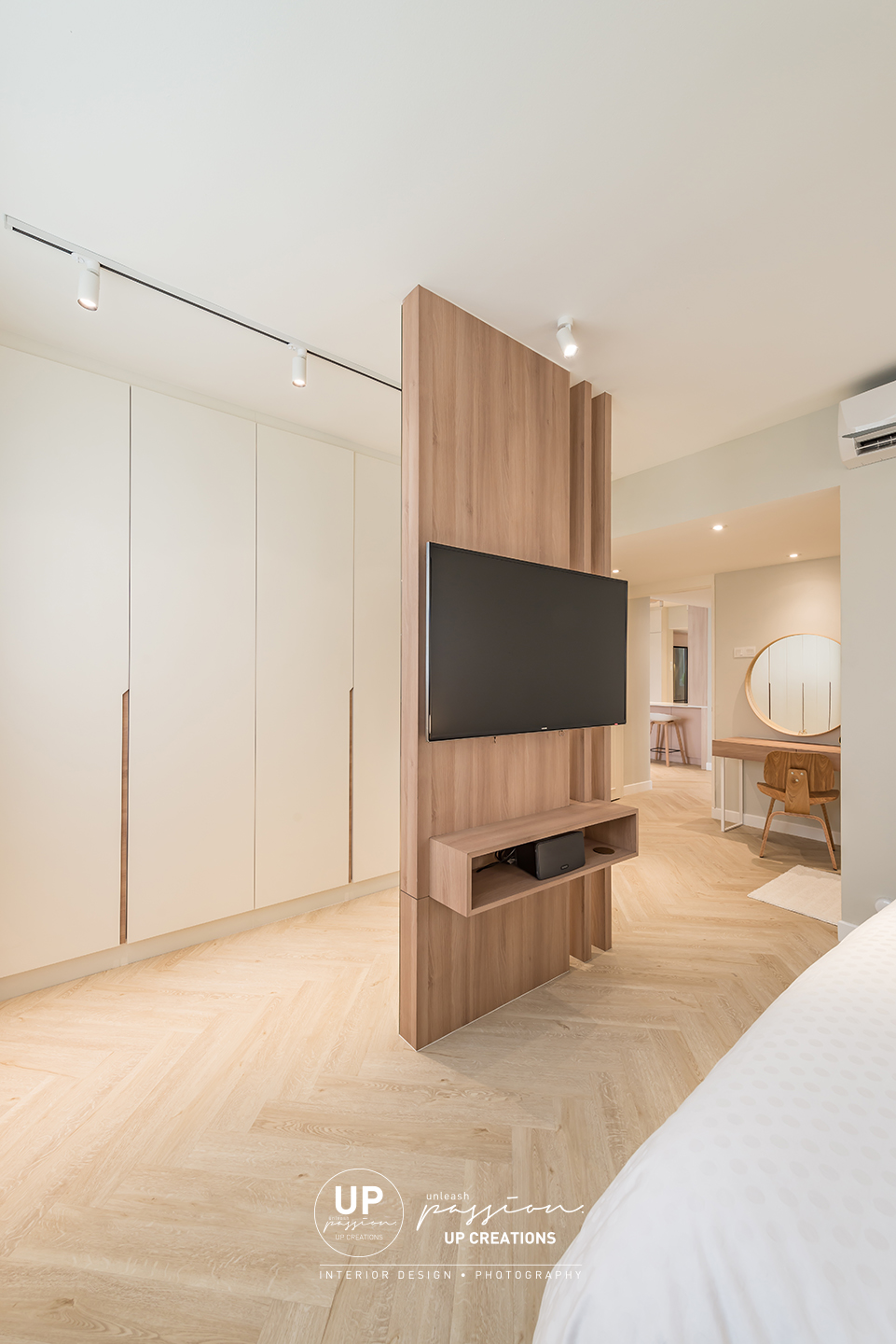 Mont Kiara Pines condo feature divider as a TV partition as well