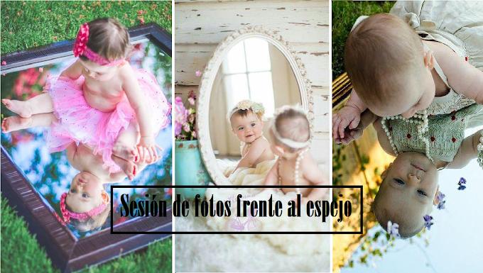 La mejor sesión de fotos frente al espejo para los meses de tu bebé