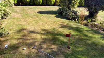 Putting Green at Luccombe Hall Hotel in Shanklin, Isle of Wight. Photo by Philip Walsh, July 2020
