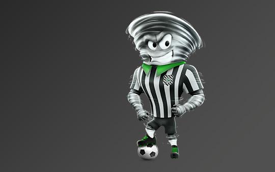 o clube resolveu então criar o mascote Furacão, apelidado pela torcida de Furacão do Estreito.