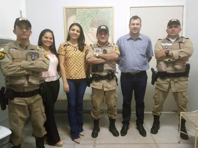 9º BPM realiza visita cidadã no hospital Regional de Augustinópolis