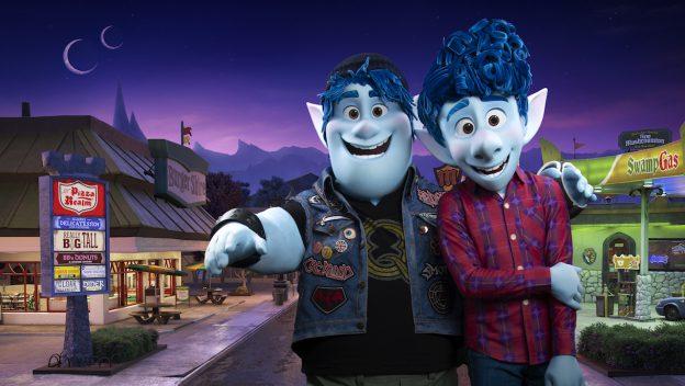 Onward's Ian and Barley character meet at Disney Parks
