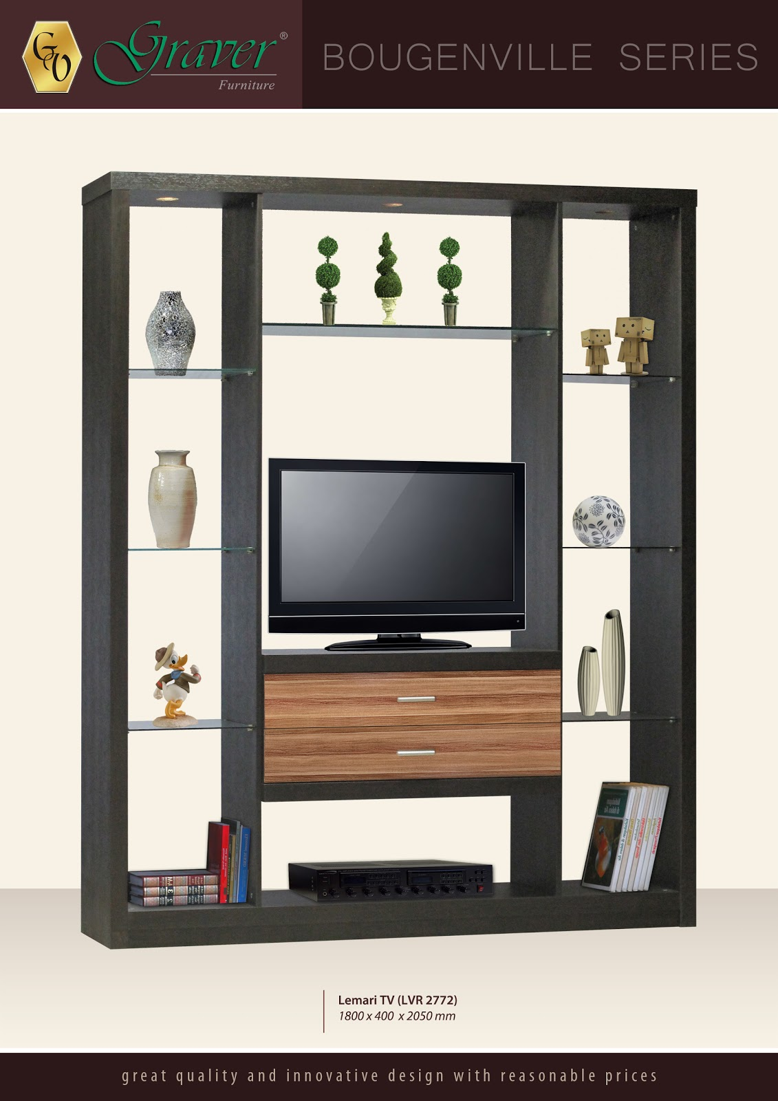 Pvc Tv Showcase Pvc Tv Cabinets Tv Unit Pvc Tv Online: Toko Furniture Di Cianjur: LEMARI TV _ BOUGENVILLE SERIES