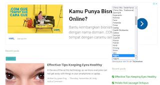 Aktifkan Translate di Blog untuk Target Internasional