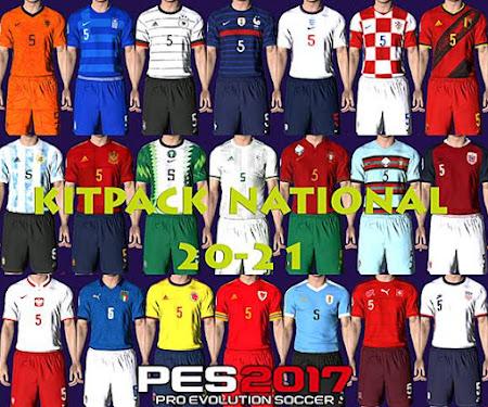 PES 2017 Kitpack National Teams 2020/2021 V1 AIO