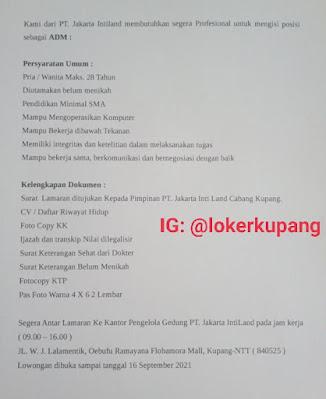 Lowongan Kerja PT. Jakarta Intiland Sebagai Admin