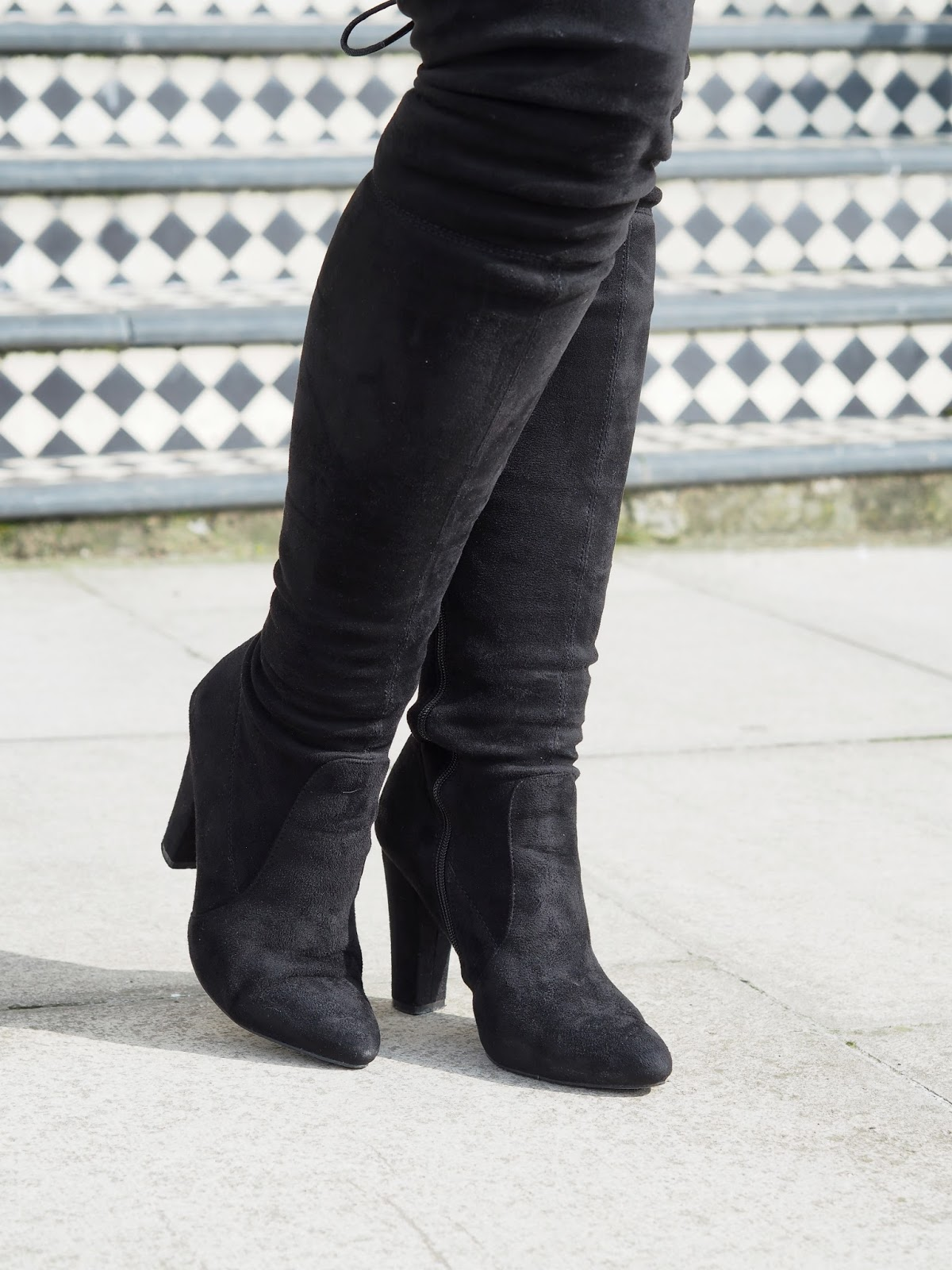 Over The Knee Boots Close Up