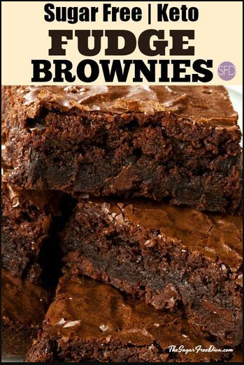 KETO SUGAR FREE BROWNIES - These Keto Sugar Free Brownies have just about anything anyone could want. I like that this can be made low carb as well.