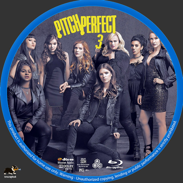 Pitch Perfect 3 Bluray Label
