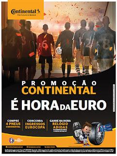 Participa promoção Continental É hora da Euro