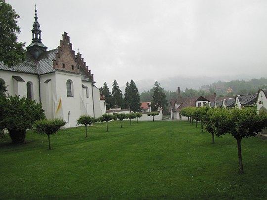 Zespół klasztorny. W głębi widać browar cystersów.