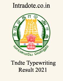 TNDTE TYPEWRITING RESULT 2021