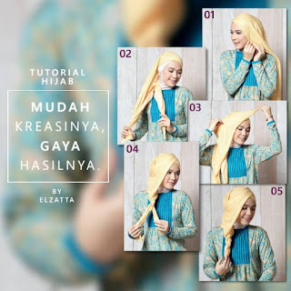 Permalink to Koleksi Tutorial Hijab Terbaik dari Elzatta