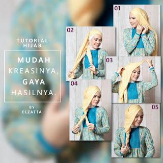 Koleksi Tutorial Hijab Terbaik dari Elzatta