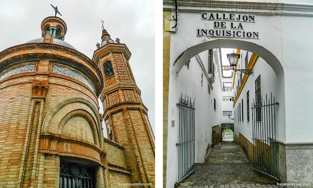 Triana, Sevilha: Capela del Cármen e Beco da Inquisição