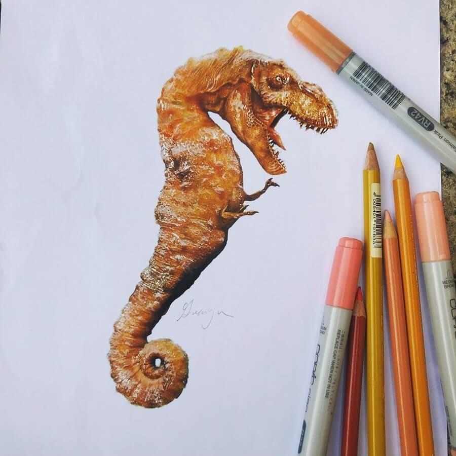 10-Seahorse-T-Rex-Guanyu-Animal-Mashup-www-designstack-co