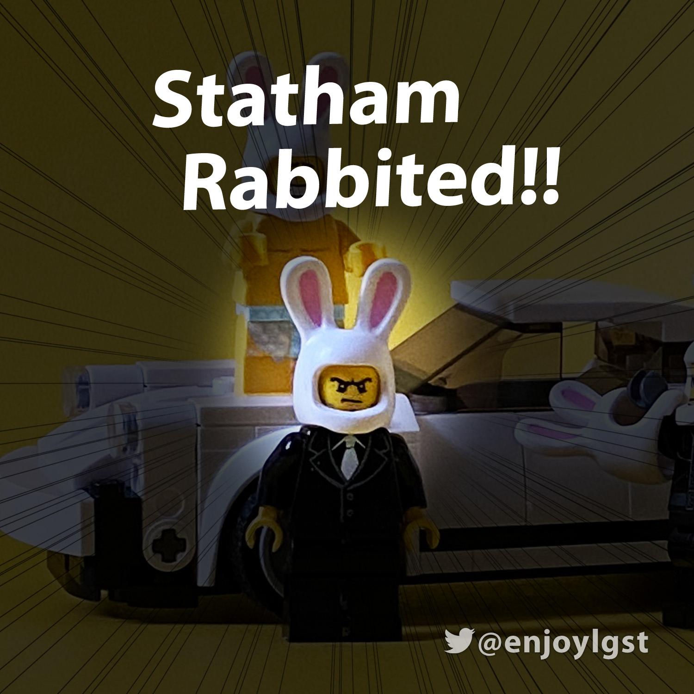 LEGOで英語学習:ステイサム対裸ウサギ(トランスポーター):LEGOで遊びながら英語を学ぶシリーズ