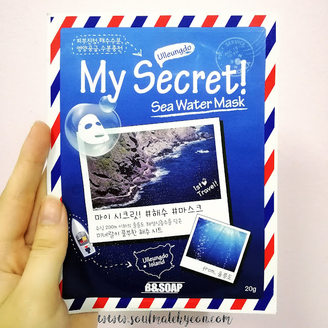 Review; B&SOAP's My Secret Sea Water Mask + First Impression