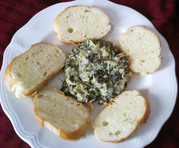 Lightened Up Spinach Artichoke Dip