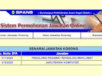 Jawatan Kosong di Kerajaan Negeri Sabah