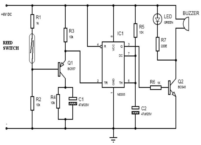 door buzzer sound circuit diagrams