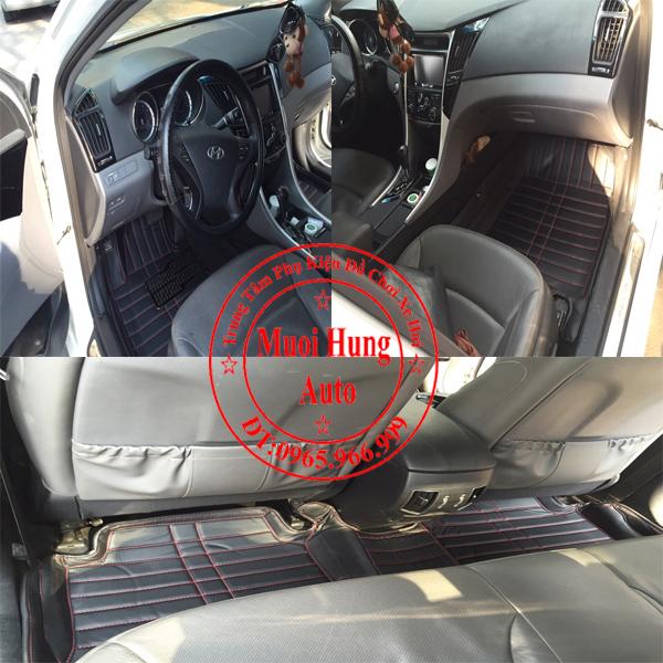 Thảm Lót Sàn Ô Tô 4D Hyundai Santafe Màu Đen 01