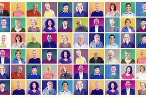 collage of diverse senior head shot avatars