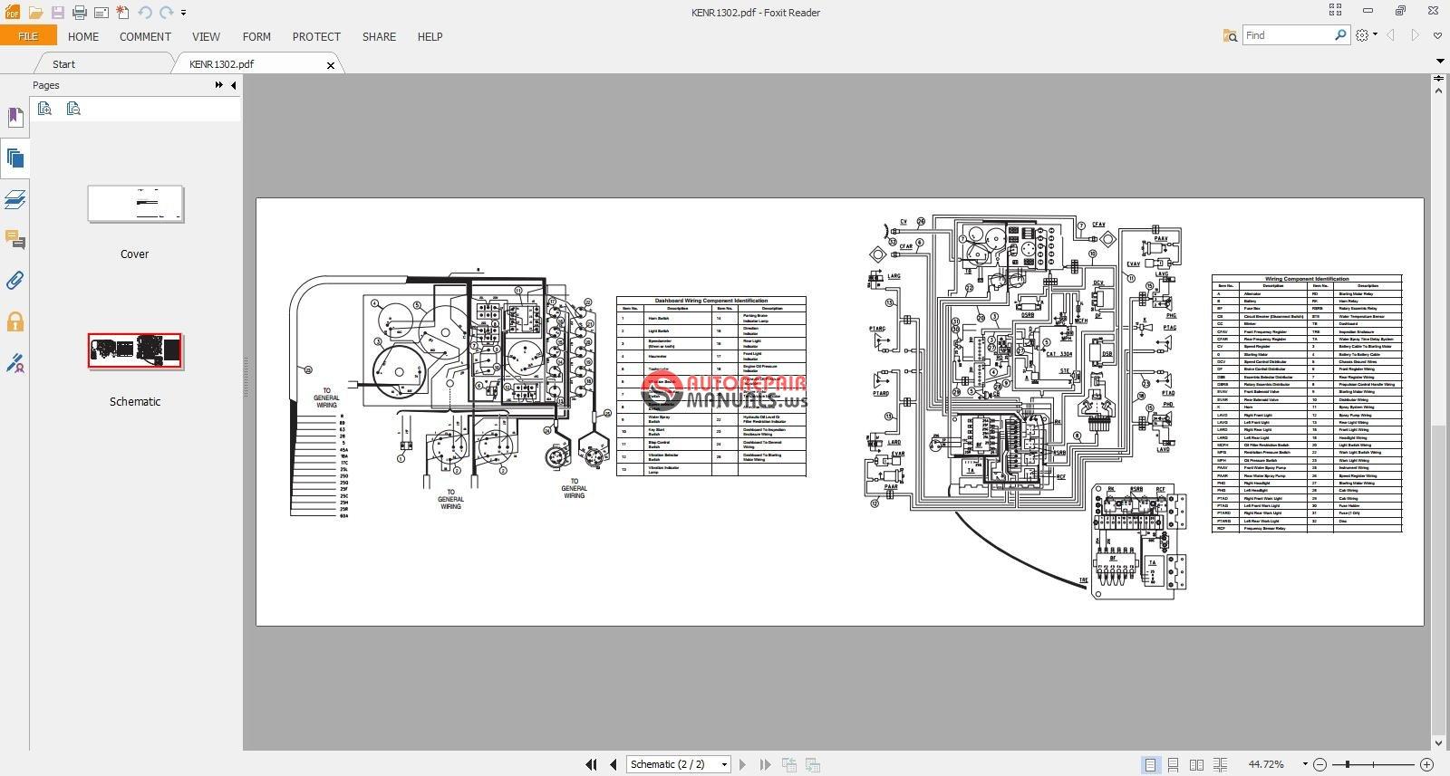Free Auto Repair Manual   Cat Electrical Schematic