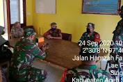 Anggota TNI Sosialisasi Protokol Kesehatan di SMP Negeri 1 Singkohor