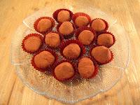Trufas de castañas con chocolate