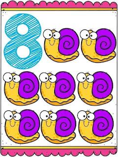 tarjetas para trabajar los números del 1 al 10