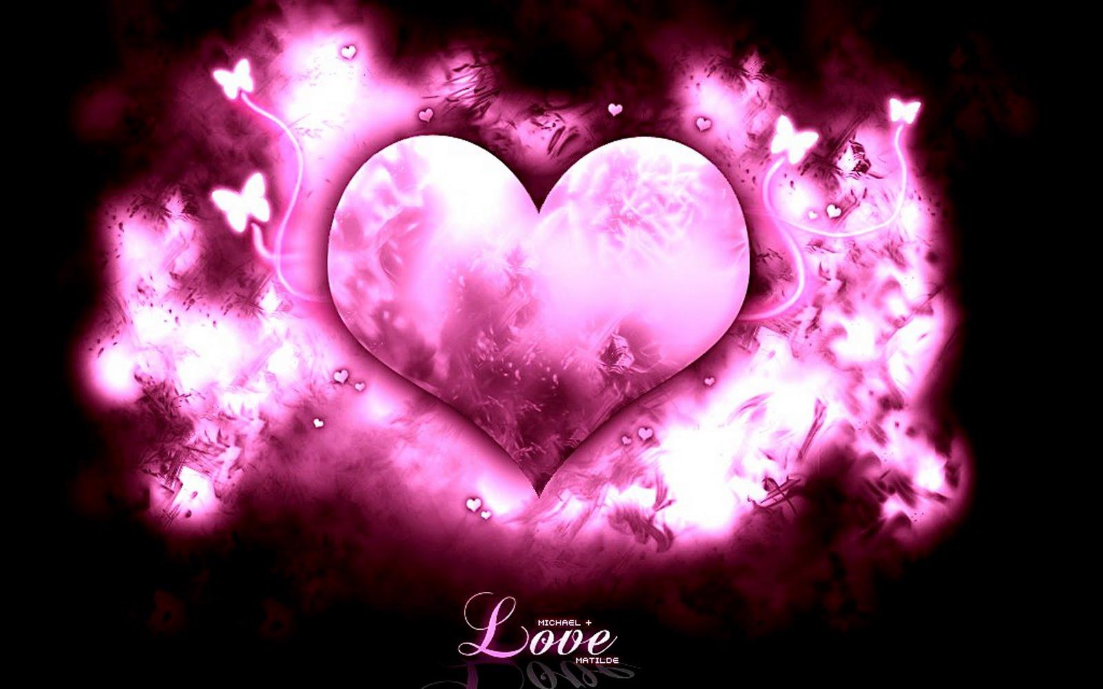 Gambar Pink Love Heart