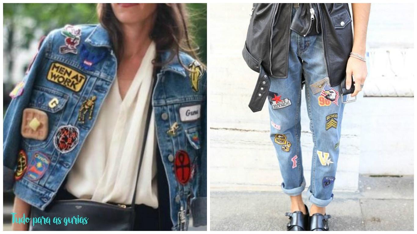Tendência: Jeans com Patches.