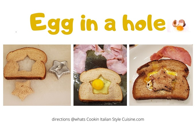how to make eggs in a hole