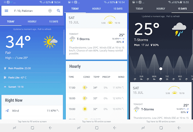 free weather forecast app for android phones