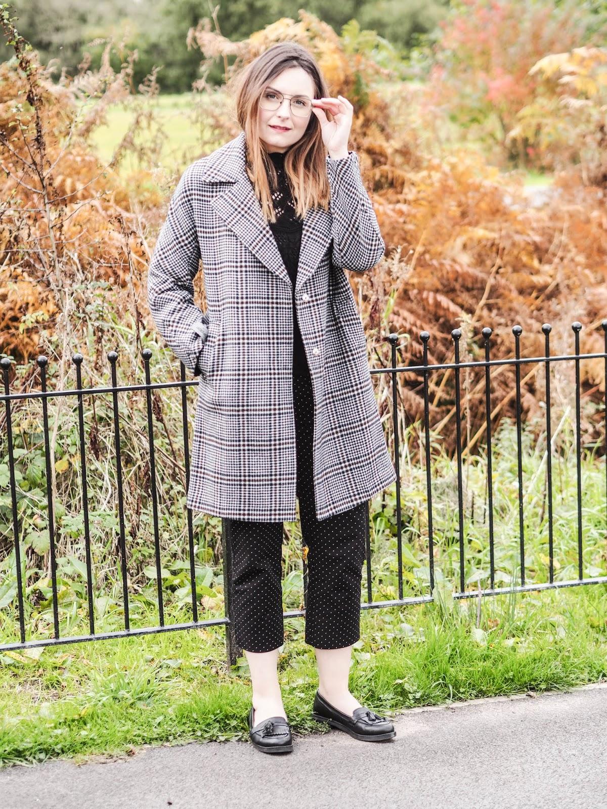 Superdry Koben wool coat in check