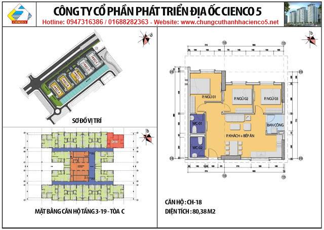 Sơ đồ thiết kế căn 18 chung cư B2.1 HH02C Thanh Hà Cienco 5