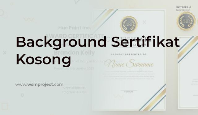 background Sertifikat Gratis Siap Edit