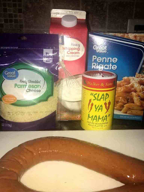Creamy Sausage Alfredo with Penne Pasta