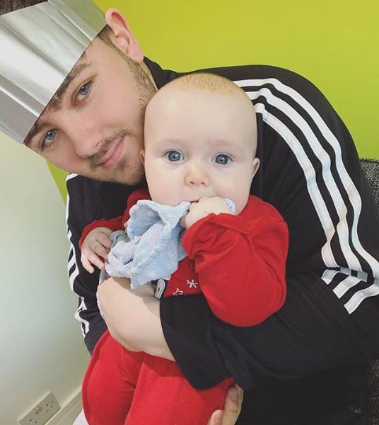 Declan J Donovan with nephew Max