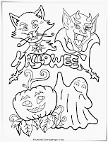 Halloween Monster Printable Coloring Pages