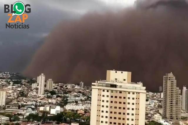 Tempestade de areia que atingiu SP e MG