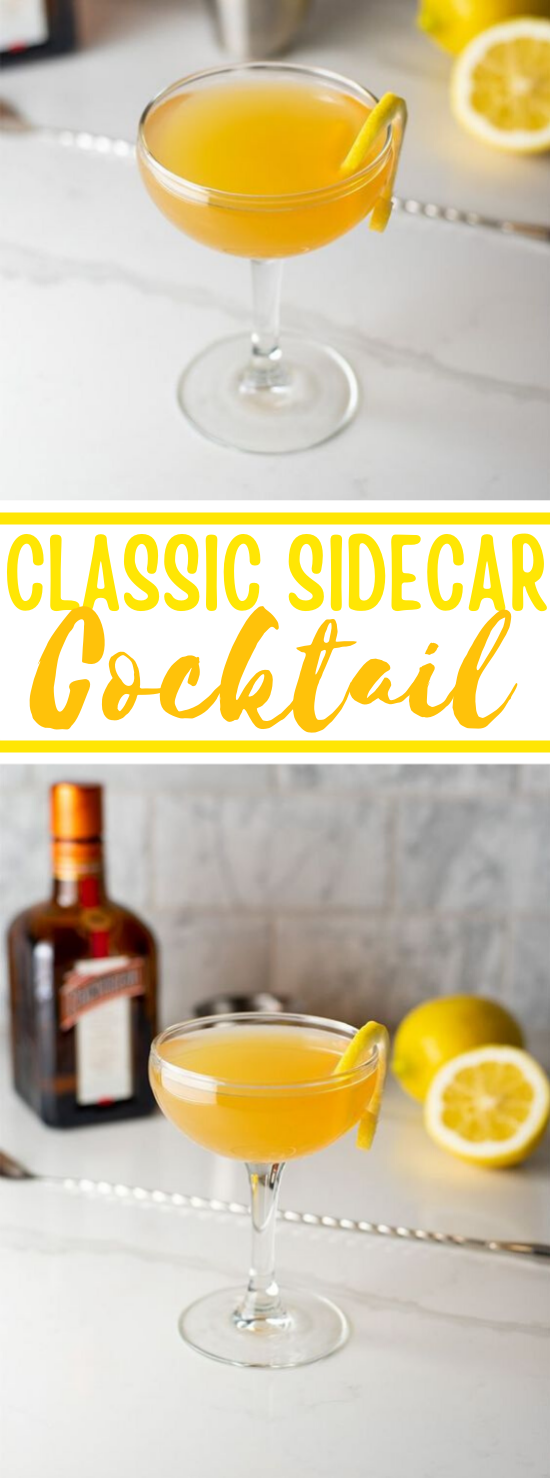 Sidecar Cocktail Recipe #drink #cocktails #recipe #party #summer