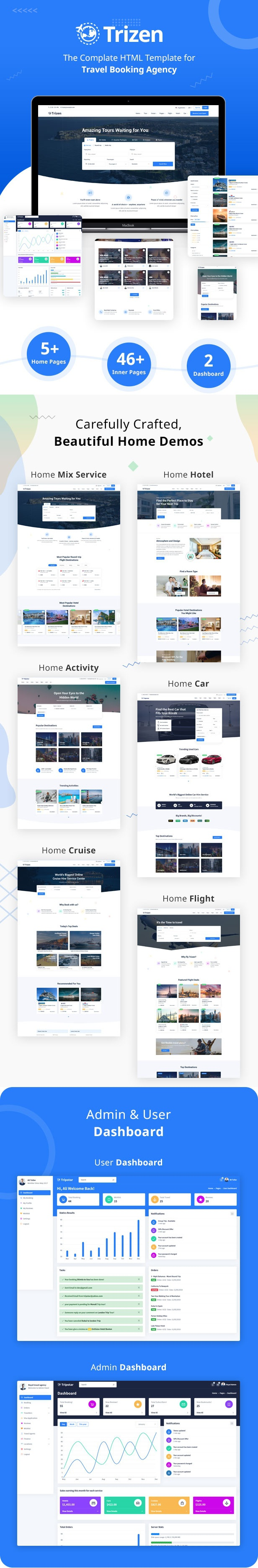 Travel Hotel Booking Template with Dashboard